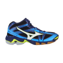 MIZUNO WAVE BOLT 6 MID - BLACK / WHITE / BLUE DEPTHS [38] V1GA176571