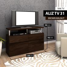 Bavarian Kabinet TV BROWN WALNUT (ALIZ 31)