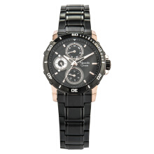Alexandre Christie AC 6473 BF BBRBA Ladies Black Dial Ion Plating Case Black Stainless Steel Strap [ACF-6473-BFBBRBA]