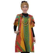 SHE BATIK Dress Batik Cap Sinaran Rainbow
