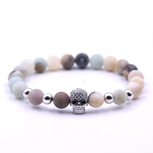 TUTU And Co. SKULL CANDY SILVER BRACELET