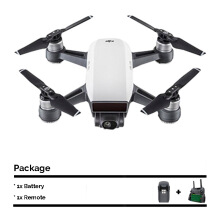 DJI Spark Mini Drone with 1 Extra Battery + Remote Controller - Alpine White