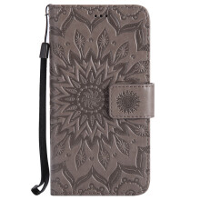 Sannic Xiaomi NOTE5 5A Phone Case Sun Flower PU Leather Casing Emboss Flip PU Leather Stand Cover Cases