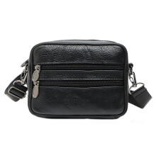 BESSKY Men Famous Multifunction Casual Small Crossbody Messenger Bag_ Black