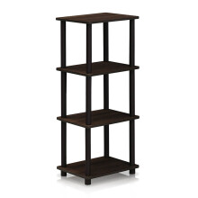 FUNIKA x FURINNO 16102WN/BR - 3 Space Shelf Walnut Coklat