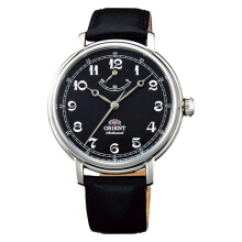 Orient Monarch Silver Black Dial Black Leather Strap [FDD03002B]