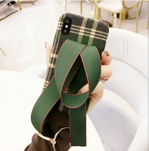 Ins I-65 British style retro grid flannel&Bowknot hard shell IPHONE6/6s case cover-Green