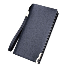 BESSKY Men Long Bifold Business Leather Wallet Money Card Holder Coin Bag Purse _