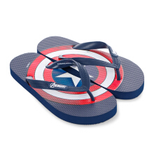 MARVEL Captain America Icon Flip Flops for Kids – Navy Blue