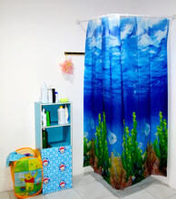 LUCKY BIRD-Tirai Kamar Mandi Anti Air Peva Shower Curtain