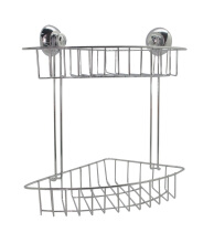 JYSK Shelf Corner Double Kosta Suction Cups - Silver