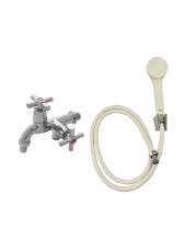 YUTA Kran Double Tap TDAHC dan Shower Set SHO (Ivory)