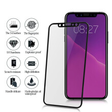 WK DESIGN Excellence 3D Curved Edge Tempered Glass iPhone X - Bingkai Putih