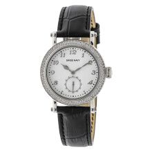 SWISS NAVY Woman White Dial Black Leather Strap [8588LSSBK]
