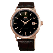 Orient Symphony Classic Automatic Black Dial Brown Leather Strap [FER27002B] Black