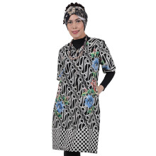 SHE BATIK Dress Batik Tulis Parang Floral - Black