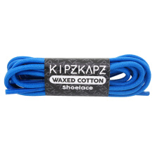 KIPZKAPZ WS13 Waxed Cotton Round Shoelace - Blue [3mm]