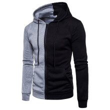 BESSKY Men Long Sleeve Hoodie Stitching Zipper Coat Jacket Outwear Sport Tops_