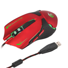 BESSKY Hot 6D LED Optical USB Wired 3200 DPI Pro Gaming Mouse For Laptop PC Game _ Red