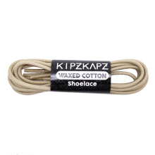 KIPZKAPZ WS6 Waxed Cotton Round Shoelace - Beige [3mm]