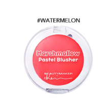 BEAUTYMAKER Tebuy Marshmallow Pastel Blusher - Watermelon Red Red