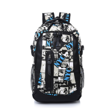 Ins I-231 Trendy outdoor travel &casual backpack-Black&White