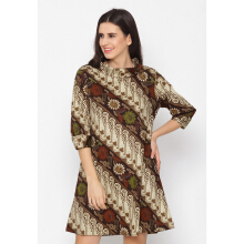 FBW Naomi Turtle Neck Batik Dress - 4 Warna