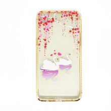 Softcase Shining Gold List Diamond Oppo R9 / Oppo F1 Plus