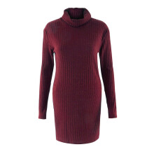 BESSKY Womens Casual Long Sleeve Jumper Turtleneck Sweaters Coat Blouse _