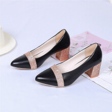 BESSKY Fashion Elegant High Heel Pointed Shoes Casual Shoes Wedding Shoes Women_