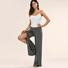 Fashionmall Gamiss Women'S Fashion High Slit Palazzo Pants