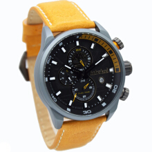 Timberland Leather Strap Mens 14816JLU-02-2051D45CKTAB Analog Chronograph Coklat Abu Brown