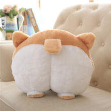 BESSKY Novelty Corgi Bottom Warm Pillow Dog Buttocks Hand Cushion Plush_ Multicolor