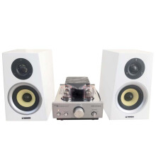 Nakamichi Soundstation 2N Premium sound audiophile high resolution with tube Amplifier-White White