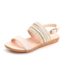 BESSKY Women Bohemia Slippers Flip Flops Flat Sandals Toe Beach Gladiator Ankle Shoes _