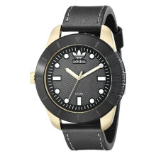 Adidas Superstar Black Dial Leather Strap Watch [ADH3039]