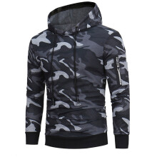 BESSKY Mens' Long Sleeve Camouflage Hoodie Hooded Sweatshirt Tops Jacket Coat Outwear_