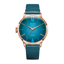 WELDER Smoothy Petroleum Blue Strap RoseGold Watch [WRC200]