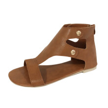 BESSKY Summer Ladies Women Sandals Fashion Flat Roman Shoes Casual Shoes_