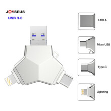 JOYSEUS Usb 3.0 Pendrive 32gb Pen Drive USB3.0 otg usb c micro Android Y Style Encrypted Usb Flash Drive for iphone Gold