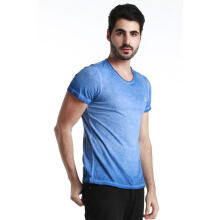 Fredperry Men- Aged Blue faded inside-out Tee