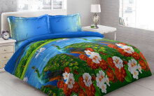 Sprei Bantal 4 Vito Disperse 180x200cm Peacock - Blue