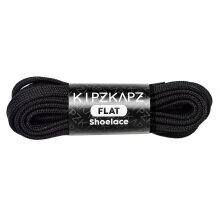 KIPZKAPZ F1 Flat Shoelace - Black [8mm]