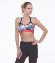 GRIPS LADIES STRAP SPORTS BRA BLACK / ATHLETICA