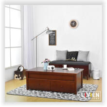 LIVIEN Furniture - Meja Tamu Laci - Mid Century Table Brown