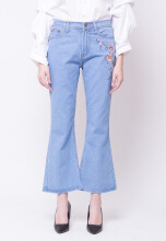 Lippia Bell Jeans Bordir Blue - Non Stretch