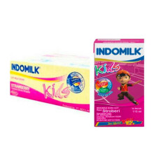 INDOMILK UHT Strawberry Carton 115 ml x 40 pcs