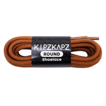 KIPZKAPZ RS7 Round Shoelace - Brown [4mm]