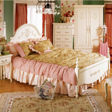 THE OLIVE HOUSE - Tempat Tidur Queen Anne Queen Bed 180 White (FREE ONGKIR JAWA & BALI)