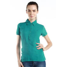 Fredperry Women -S/S Green Button Down Polo Shirt